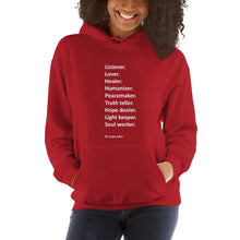 Listener (white letters) - Gildan 18500 Unisex Heavy Blend Hooded Sweatshirt