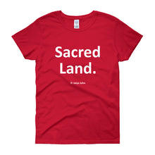 Sacred Land (white print)