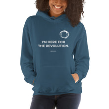 Gildan 18500 Heavy Blend Hooded Sweatshirt - I'M HERE FOR THE REVOLUTION (white print)