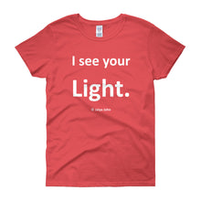 I see your light - white print
