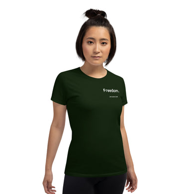 FREEDOM. Gildan 5000L Ladies Heavy Cotton Short Sleeve T-Shirt
