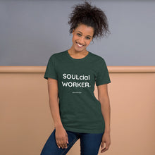 SOULcial WORKER. Unisex Premium T-Shirt | Bella + Canvas 3001
