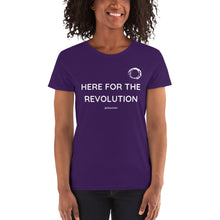 HERE FOR THE REVOLUTION - Gildan 5000L Ladies Heavy Cotton Short Sleeve T-Shirt