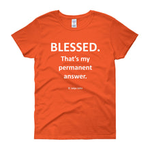 Women's short sleeve t-shirt - blessed (colors)