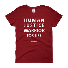 Human justice - white print