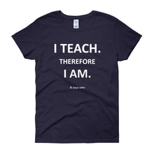 Women's short sleeve t-shirt - I teach (colors)