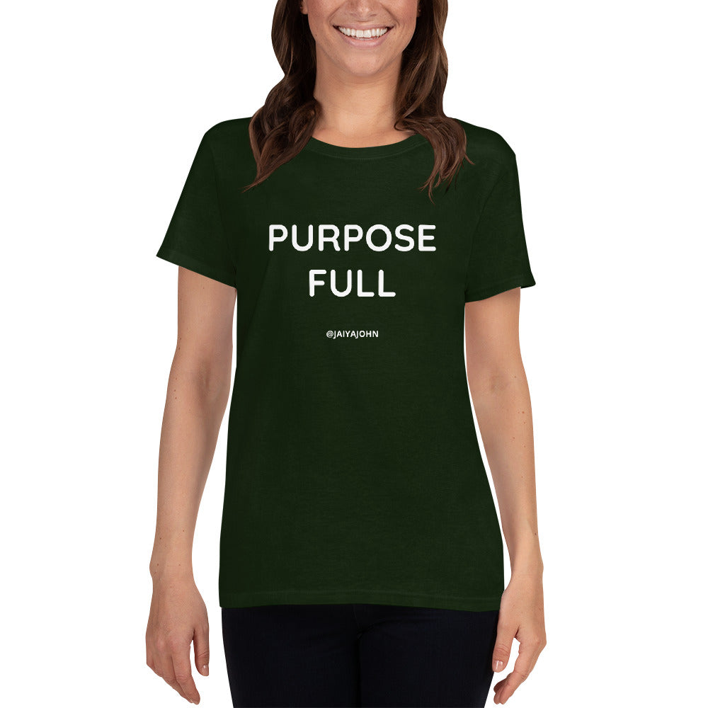 PURPOSE FULL - Gildan 5000L Ladies Heavy Cotton Short Sleeve T-Shirt