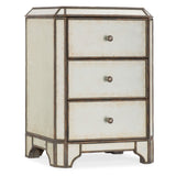 Mirrored Three-Drawer Nighstand - Artifice Store