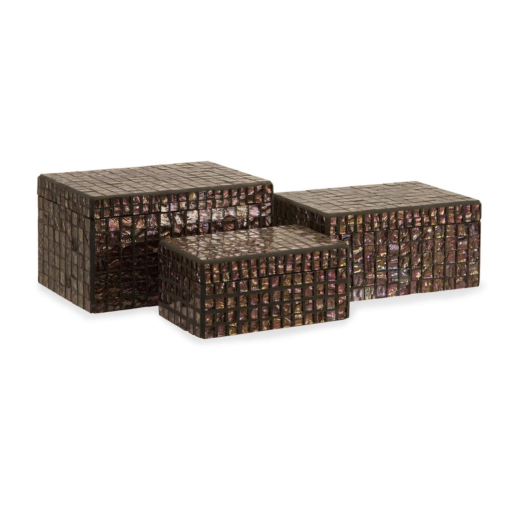 Orchid Mosaic Boxes Set of 3