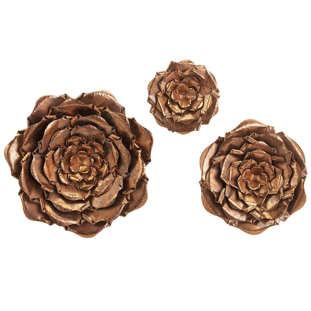 Blayney Metal Wall Flowers Set of 3