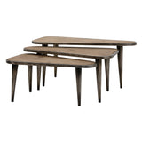 Oliver Wood and Metal Tables - Set of 3 - Artifice Store