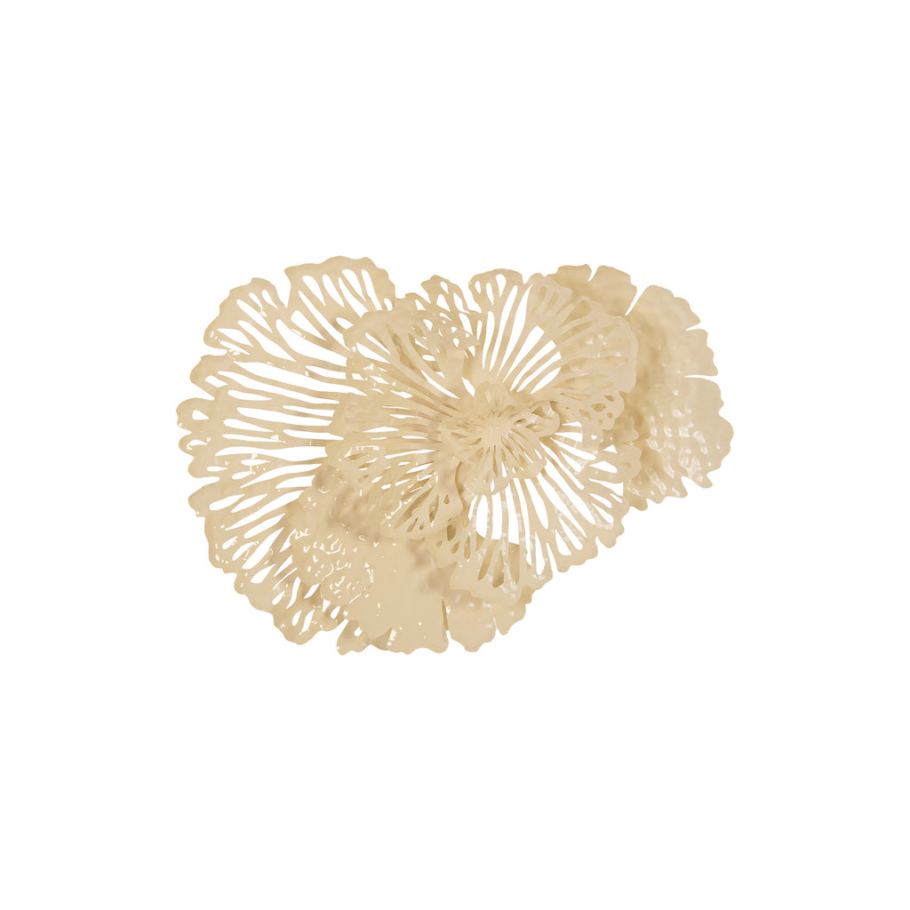 Flower Wall Art Ivory Small