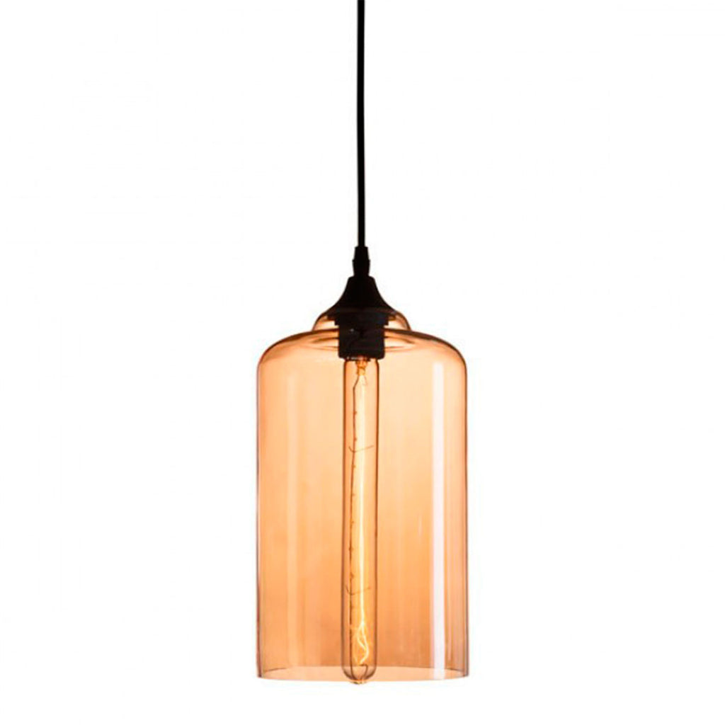 Bismite Ceiling Lamp Black & Amber