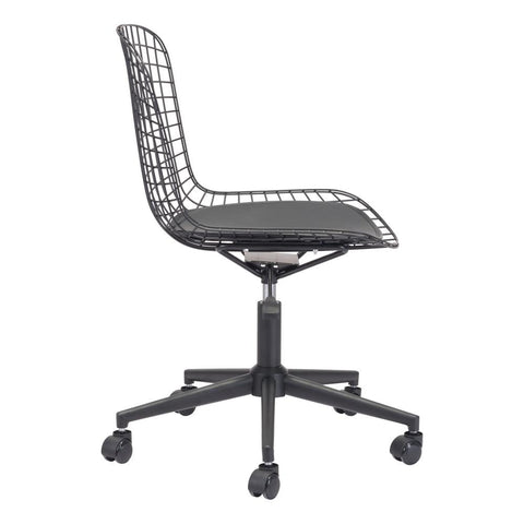 Wire Office Chair Black W/Black