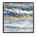 Seaside Waves Framed Canvas - Artifice Store