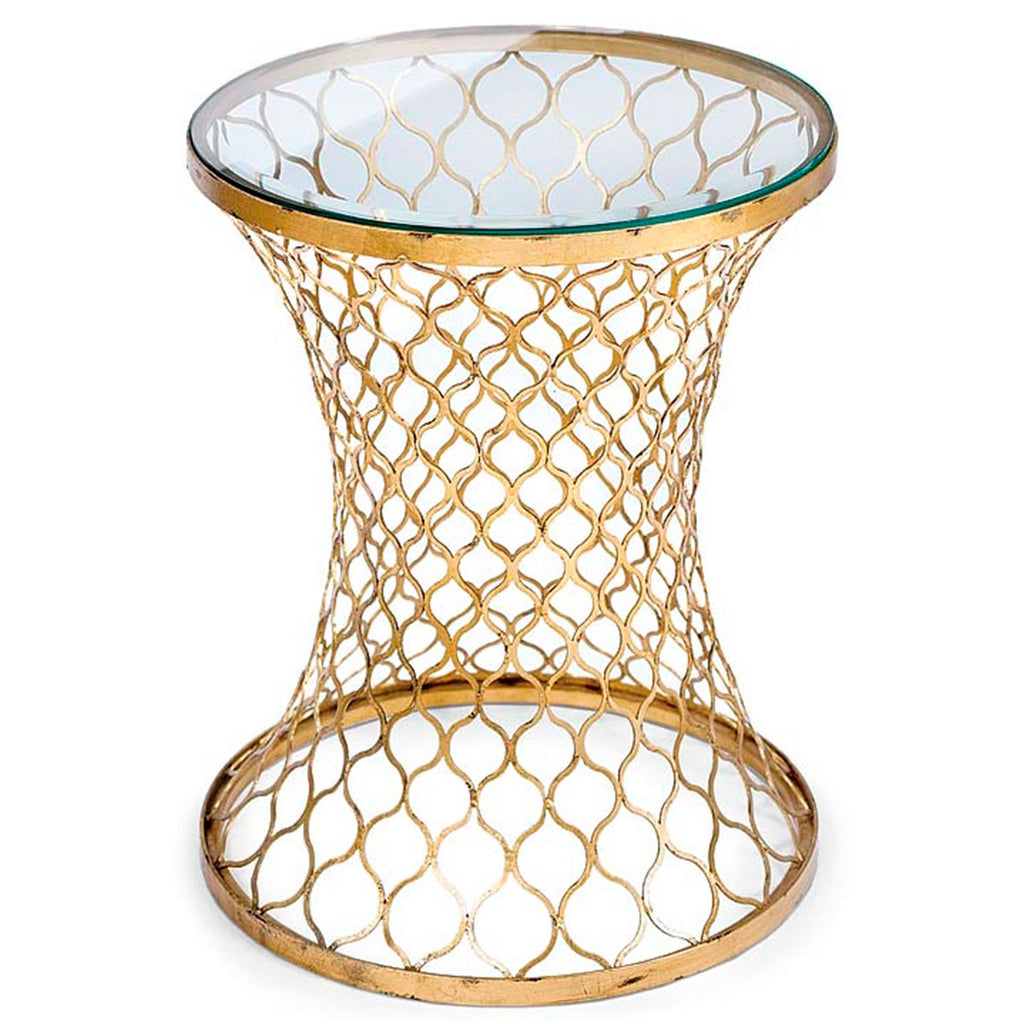 Sinuouse Metal Table-Gold