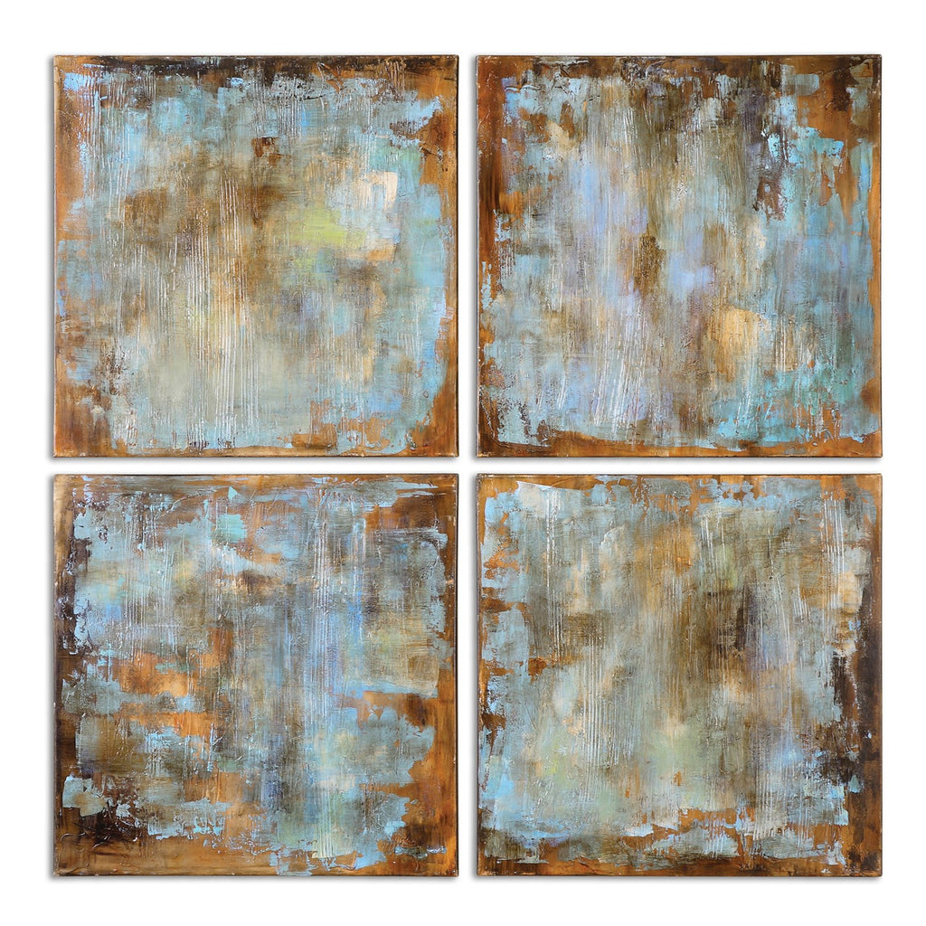 Accent Tiles Hand Painted Canvases Set of 4