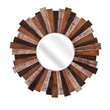 Wood Starburst Mirror - Artifice Store
