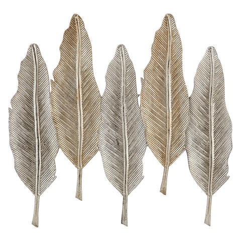 Riad Silver Leaves Wall Decor.