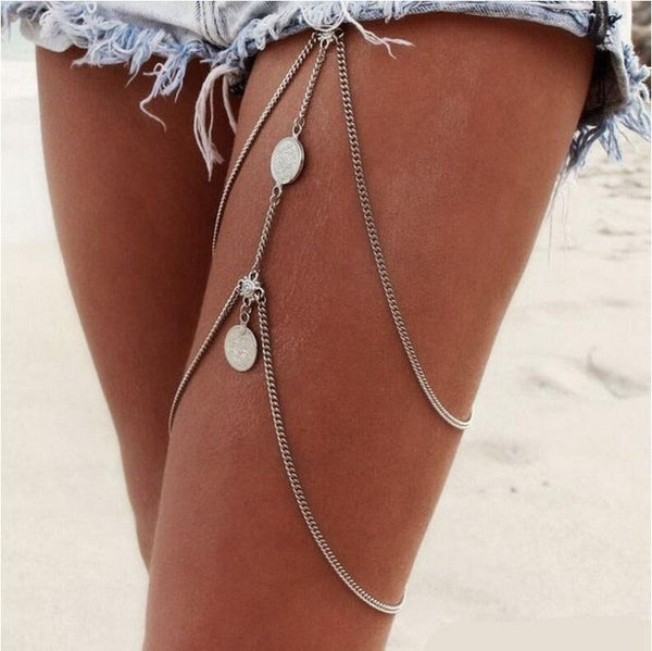 2 Tier Layered Leg Chain