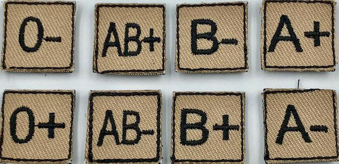 Mini Blood Type Patch | S4 Supplies