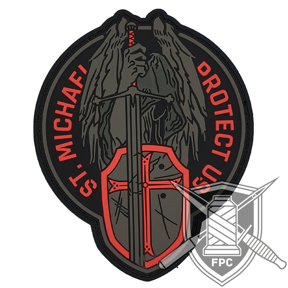 St. Michael - Protect us - Rot - PVC Patch