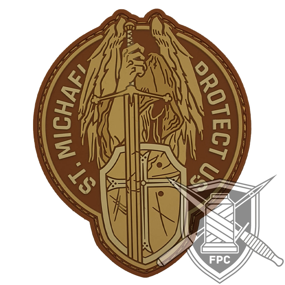 St. Michael - Protect us - Sand - PVC Patch