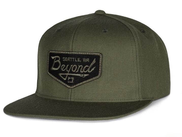 BEYOND Vintage Patch Hat - oliv