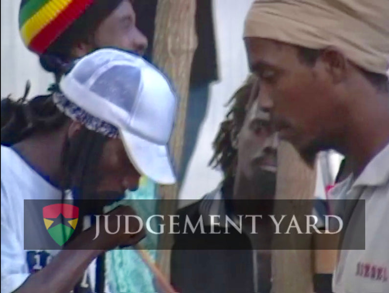 Sizzla Kalonji And Congo Judah Blazing The Chalice and Holding a Reverence In Judgement Yard