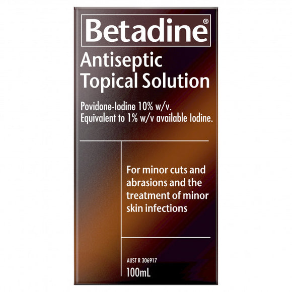 Betadine Antiseptic Topical Solution 100ml