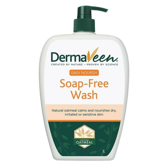 DermaVeen Daily Nourish Soap Free Wash 1 Litre