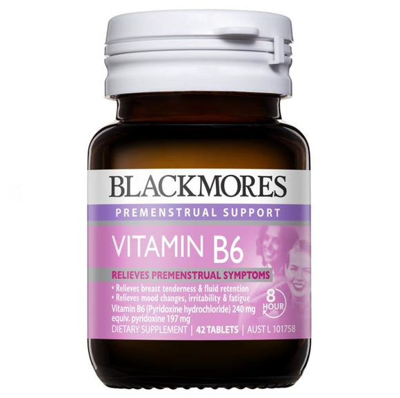 Blackmores Vitamin B6 240mg PMS Support 42 Tablets