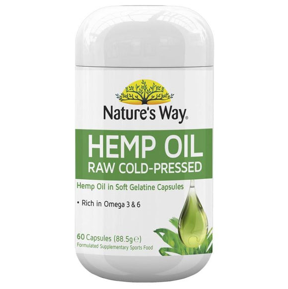 Nature's Way Hemp Oil Pure 1000mg 60 Capsules