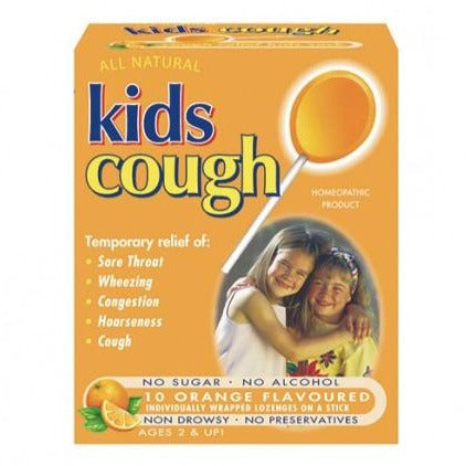 Key Sun Kids Cough Orange 10 Lozenges