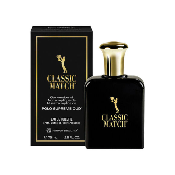 Belcam Classic Match Polo Supreme OUD Mens Eau de Toilette 75ml EDT Fragrance