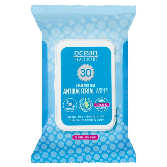 Ocean Anti-Bacterial Wipes 30 Pack