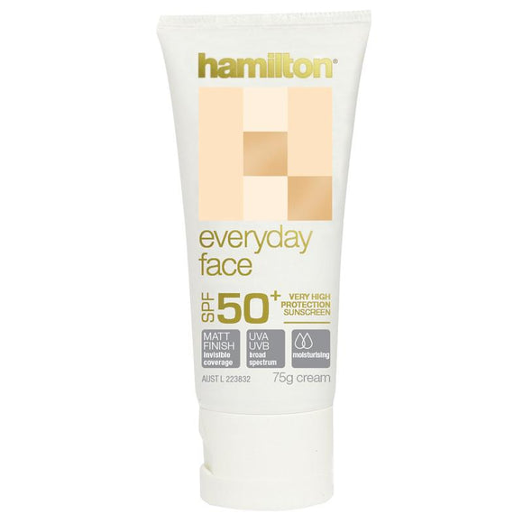 Hamilton Every Day Face Cream 50+ 75g (Recommended by cancer physician)