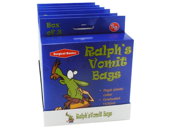 Ralph's Vomit Bag Plastic With Ring 3pk Un6