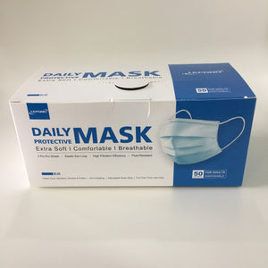 3 PLY Ear Loop Disposable Surgical Face Mask 50 pack