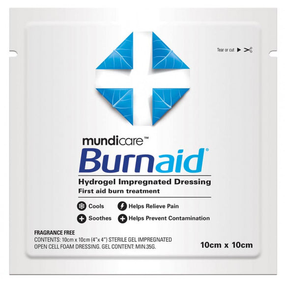 Mundicare Burnaid Burn Dressing - 10cm x 10cm
