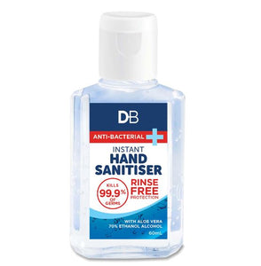 DB Anti-Bacterial Hand Sanitiser Gel 60ml