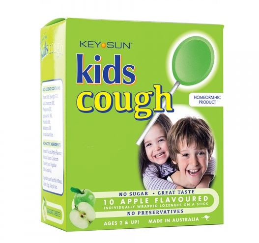 Key Sun Kids Cough Apple Flavoured - 10 Lozenges