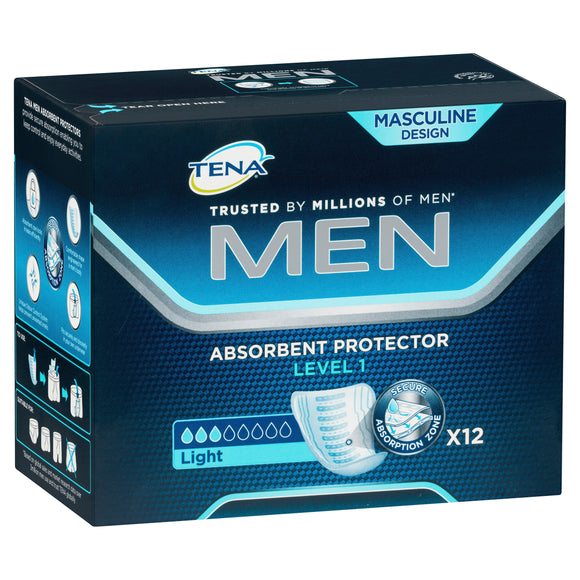 Tena Men Absorbent Protector Level 1 12pk