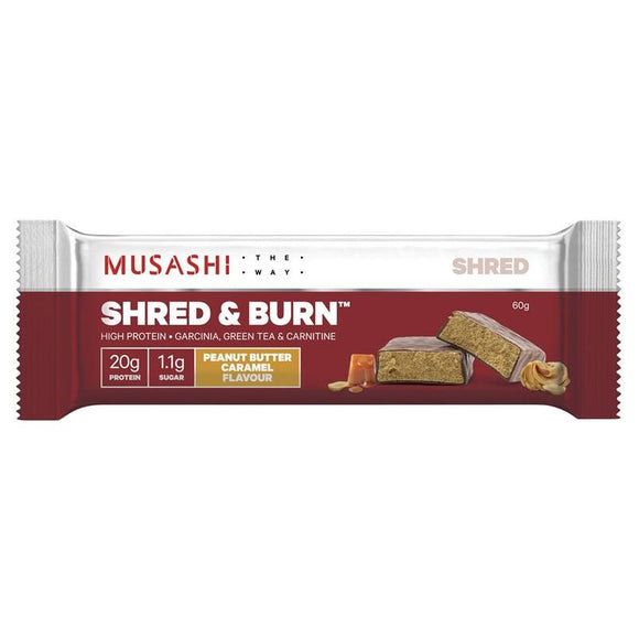 Musashi Shred And Burn Bar Peanut Butter Caramel 60g