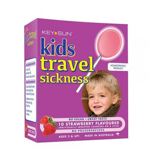 Key Sun Kids Travel Sickness 10 Lozenges – Strawberry