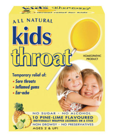 Key Sun Kids Throat Homeopathic Lozenges (Pine-Lime) 10's