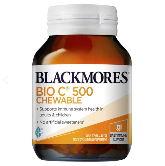 Blackmores Bio C 500mg Chewable 50 Tablets