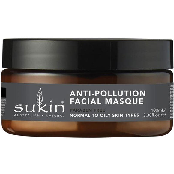 Sukin Oil Balancing Plus Charcoal Anti-Pollution Facial Masque 100ml