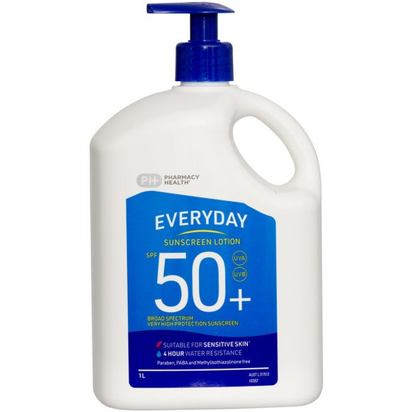 Pharmacy Health Everyday Sunscreen Lotion SPF 50+ 1L