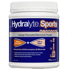 Hydralyte Sports Orange Powder 900g Tub